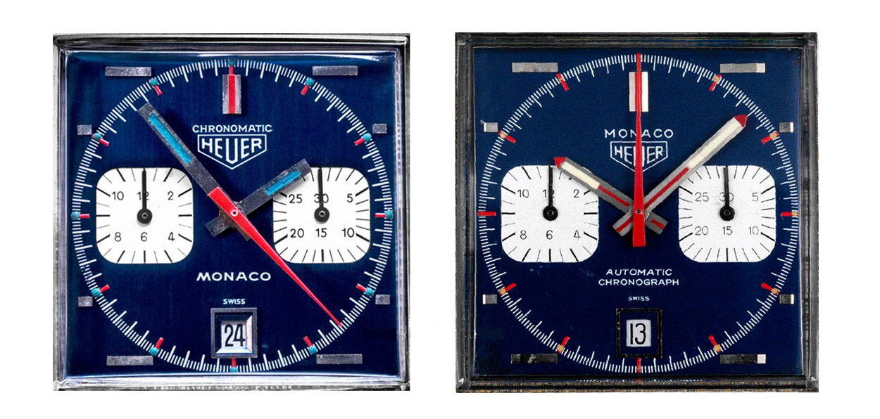 TAG Heuer Monaco dial comparison