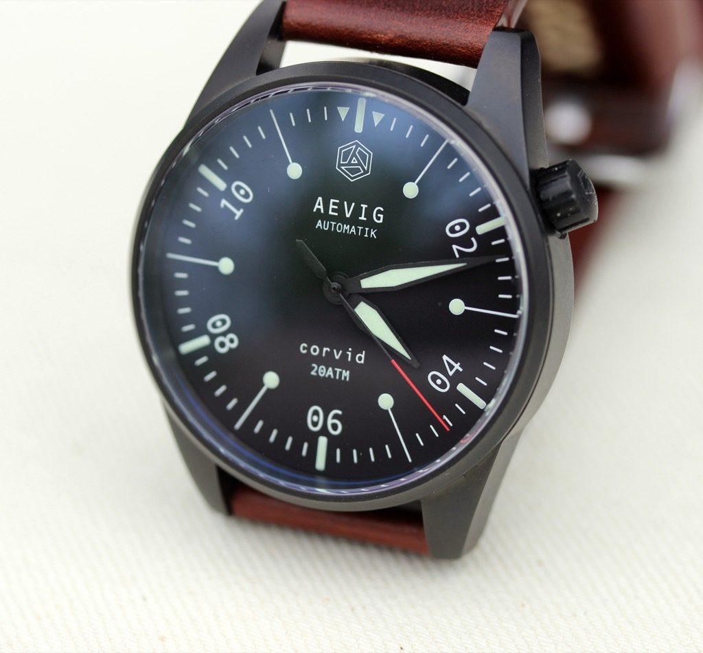 часы Aevig Corvid black
