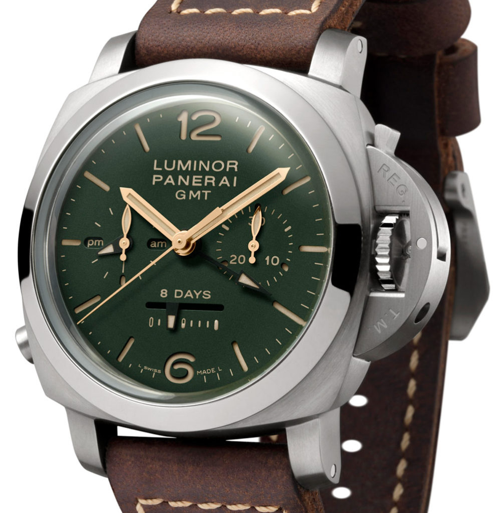 PAM737 Panerai Luminor 1950 Chrono Monopulsante 8 Days GMT Titanio