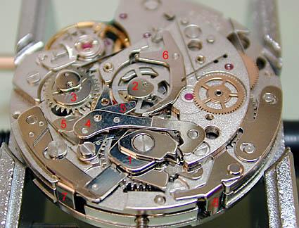 ETA 7750 Платина модуля хронографа